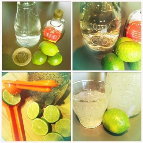 agua fresca chia limon